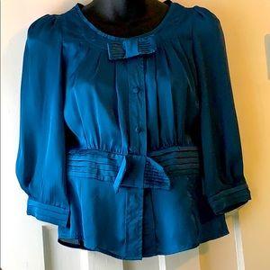 Vintage Free Fashion silk 3/4 sleeve blouse